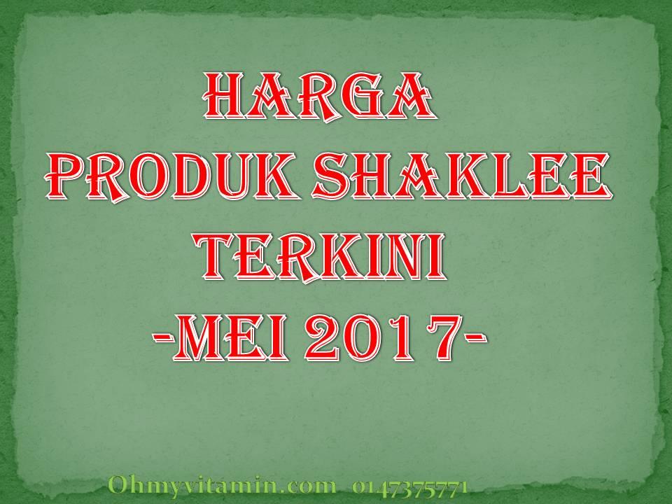 SENARAI HARGA PRODUK SHAKLEE BERMULA 1 MEI 2017