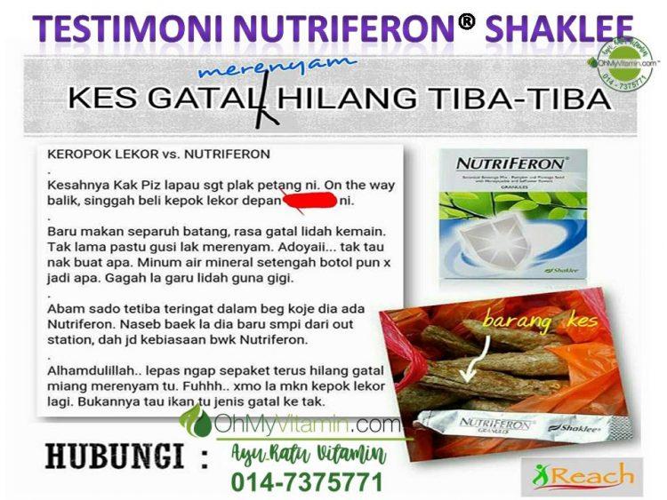 TESTIMONI NUTRIFERON® SHAKLEE