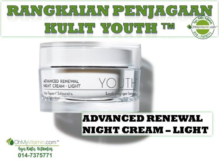 YOUTH ADVANCED RENEWAL NIGHT CREAM – LIGHT