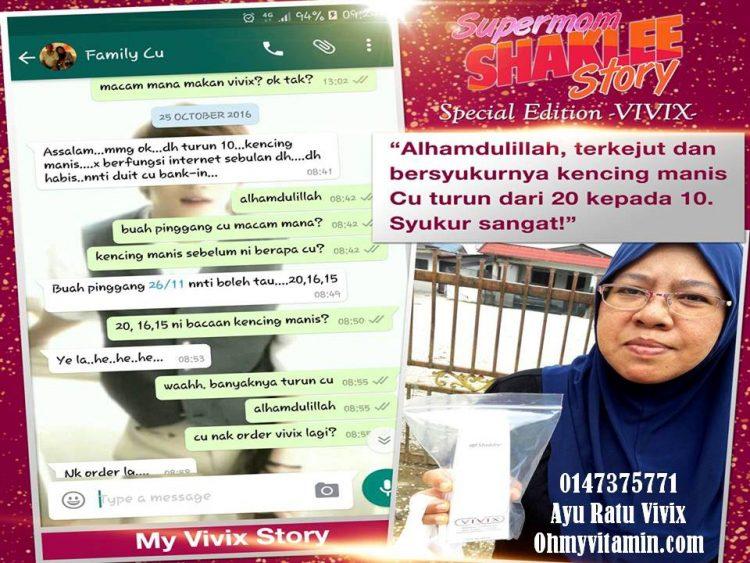 testimoni kencing manis menurun selepas amalkan vivix shaklee