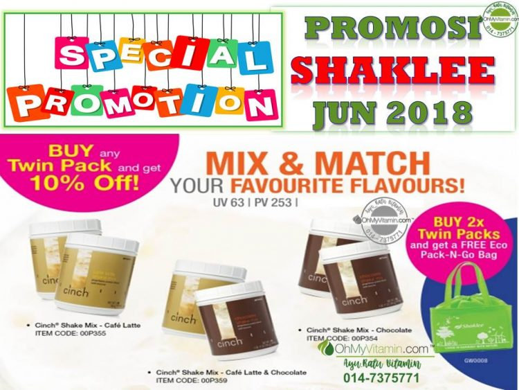 CINCH SHAKE PROMOSI SHAKLEE JUN 2018