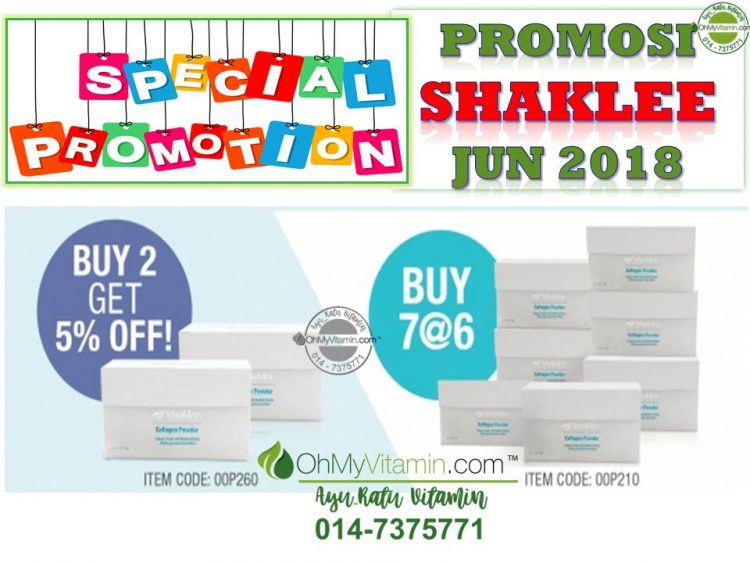 COLLAGEN POWDER PROMOSI SHAKLEE JUN 2018