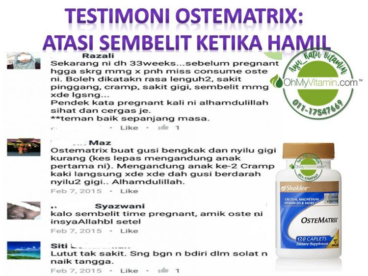 TESTIMONI OSTEMATRIX ATASI SEMBELIT KETIKA HAMIL