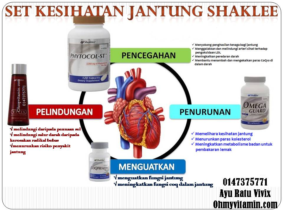 set suplemen untuk jantung sihat shaklee