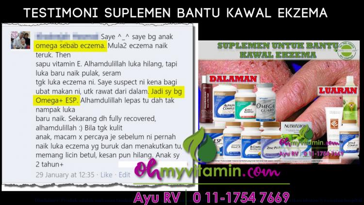 1 testimoni suplemen bantu rawat ekzema