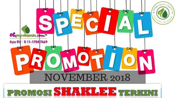 PROMOSI SHAKLEE NOVEMBER 2018
