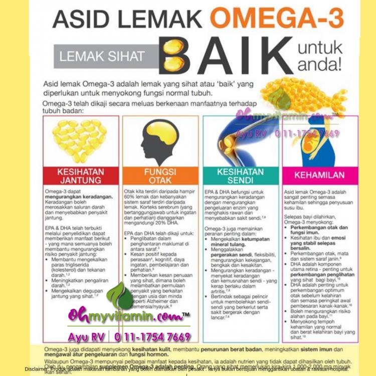 manfaat asid lemak omega 3