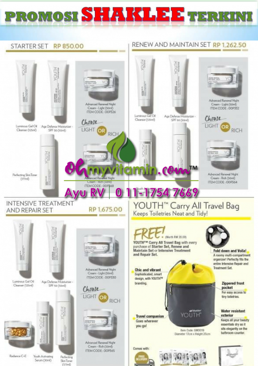 skincare youth PROMOSI SHAKLEE NOVEMBER 2018