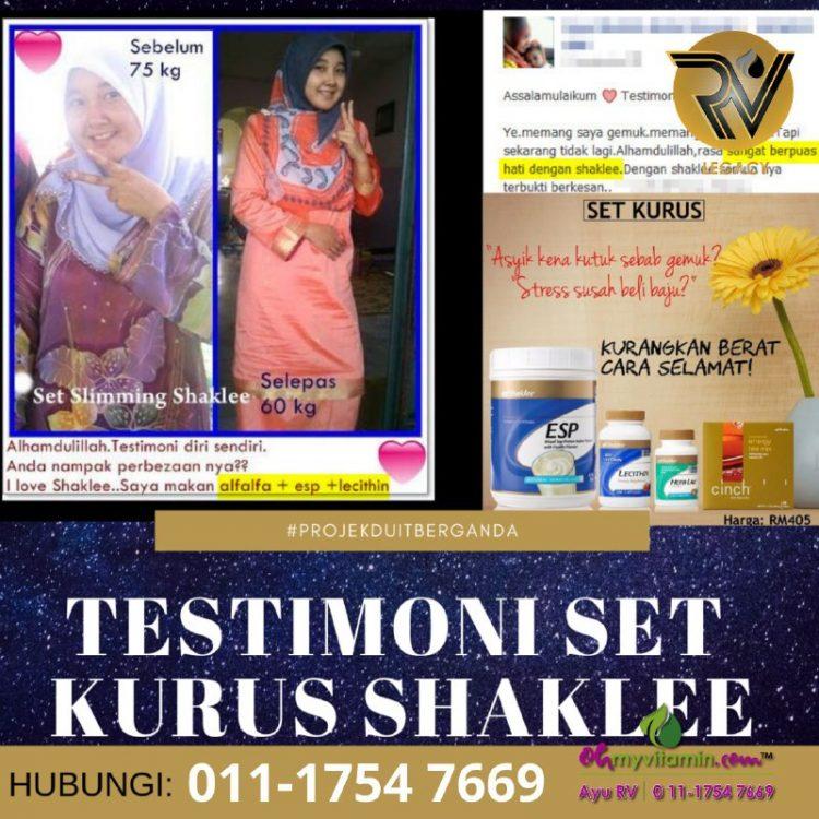 1 testimoni set kurus shaklee