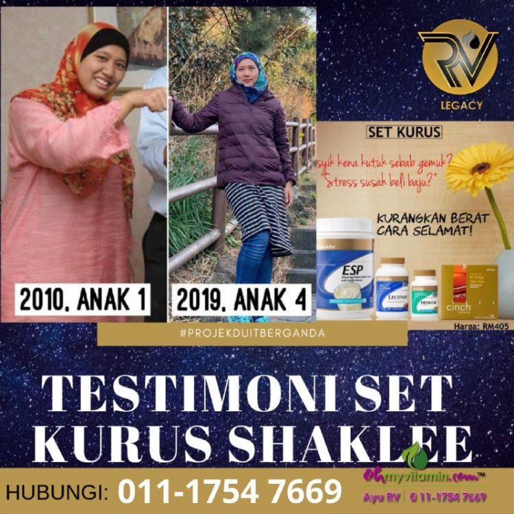 2 testimoni set kurus shaklee