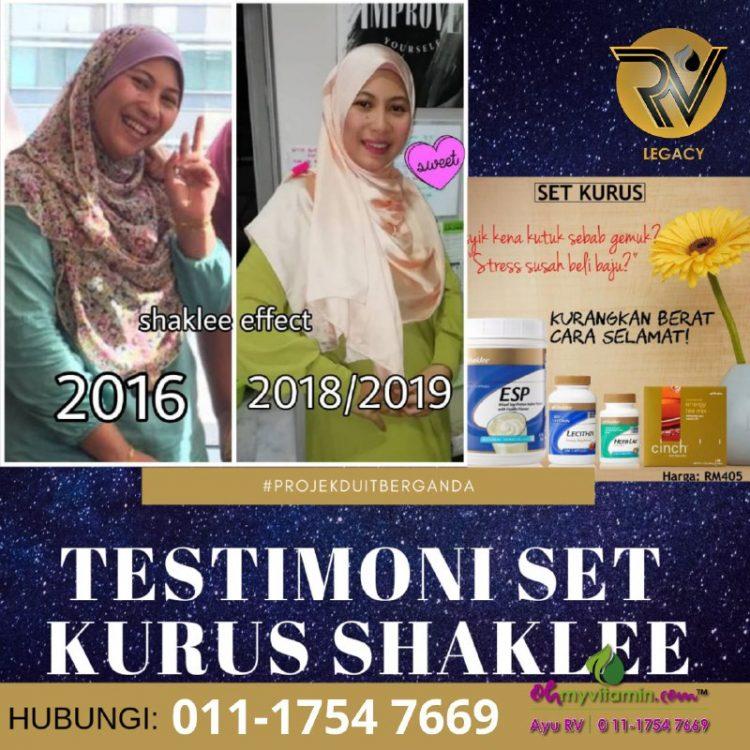 3 testimoni set kurus shaklee