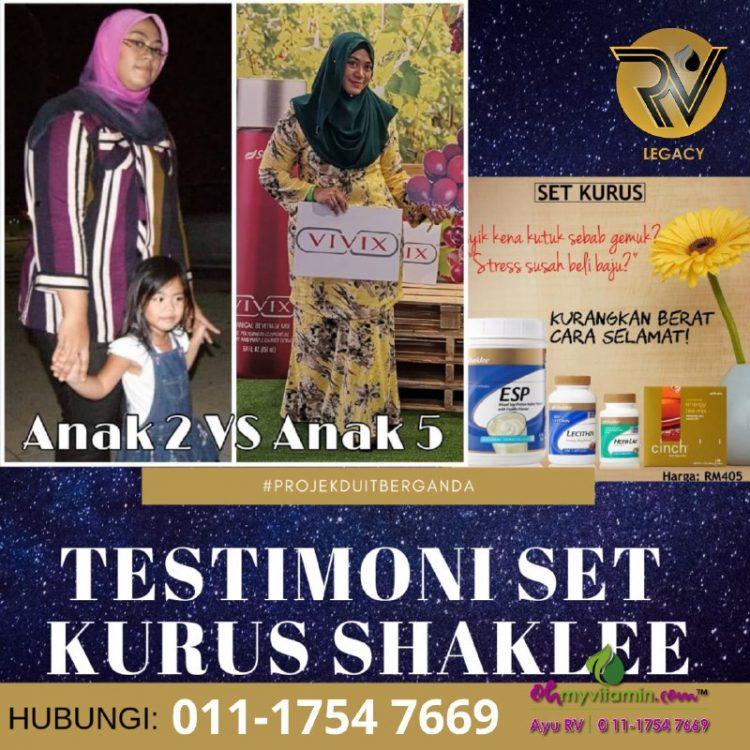 4 testimoni set kurus shaklee