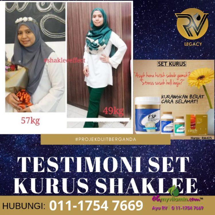 5 testimoni set kurus shaklee