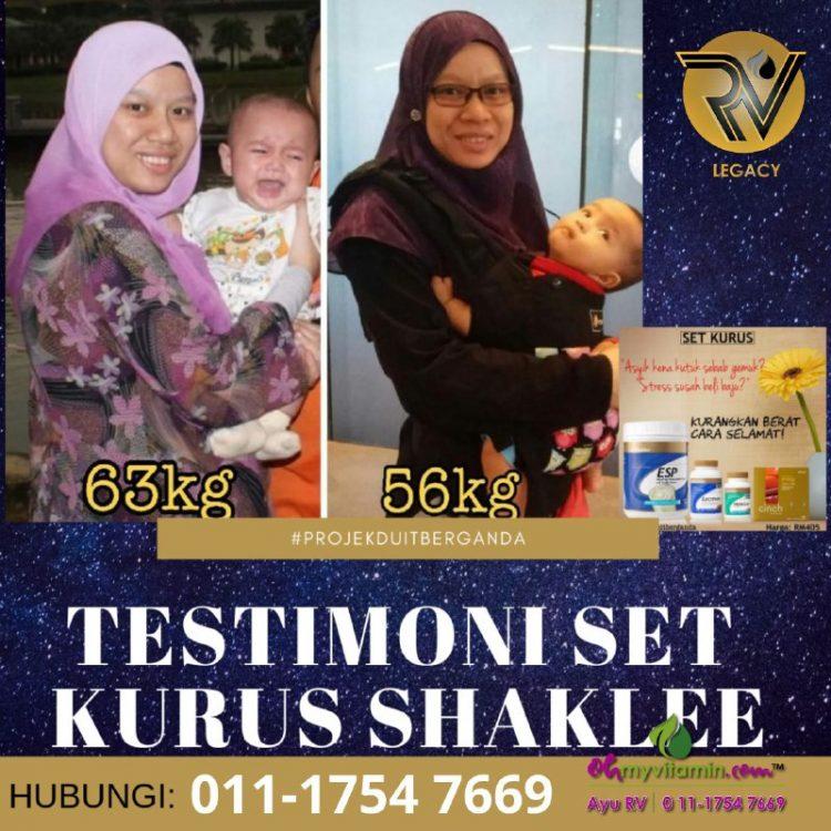 6 testimoni set kurus shaklee