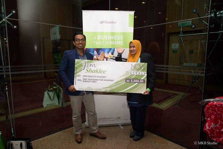 ANTARA REWARD BONUS CASH TAMBAHAN BISNES SHAKLEE