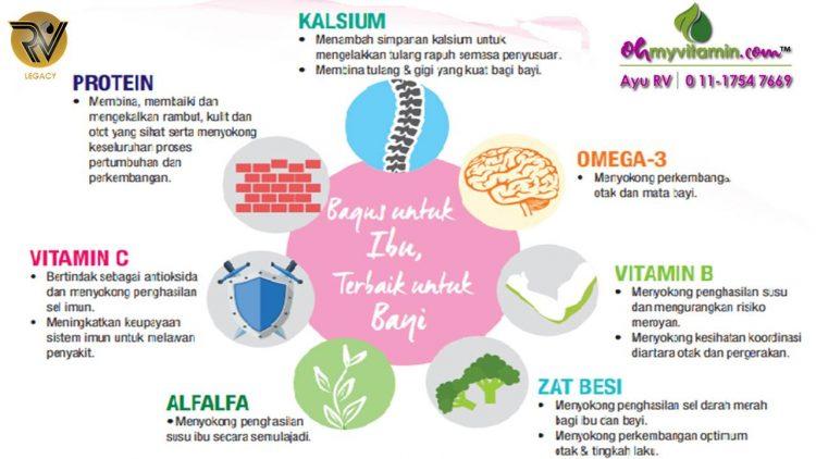 7 nutrisi penting untuk ibu menyusu