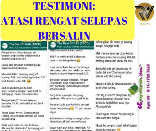 1. TESTIMONI ATASI RENGAT SELEPAS BERSALIN