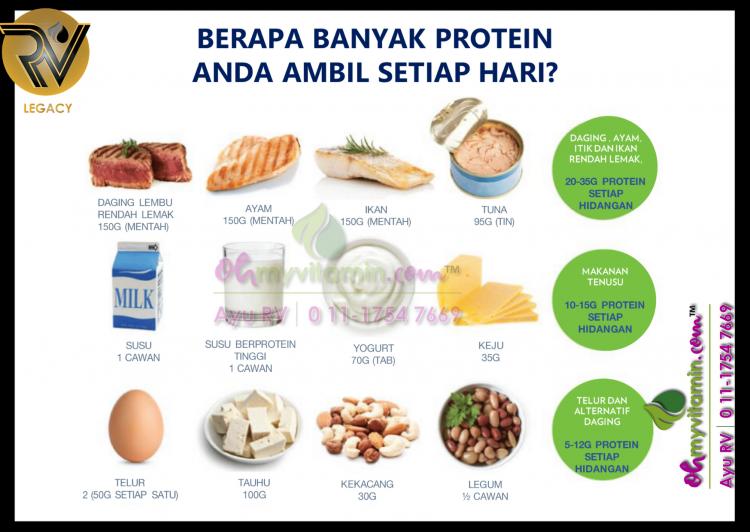 keperluan protein harian