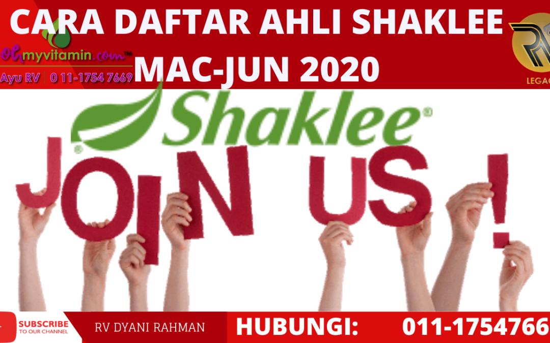 CARA DAFTAR AHLI SHAKLEE 2020