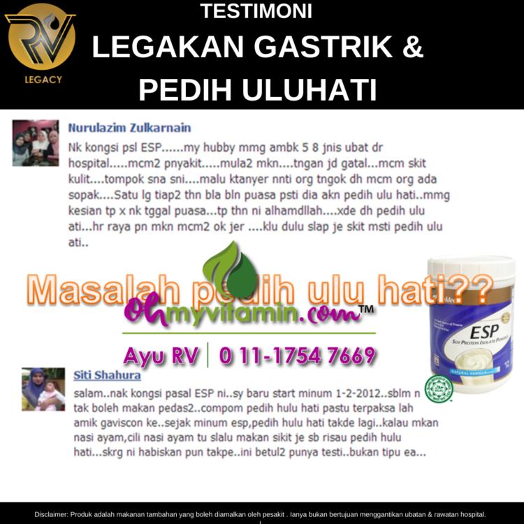 2 TESTIMONI LEGAKAN GASTRIK & PEDIH ULU HATI
